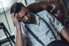 Stylish confident man Stock Images
