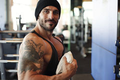 Handsome personal trainer Stock Photo