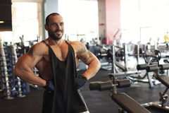 Handsome personal trainer Stock Photography