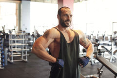 Handsome personal trainer Royalty Free Stock Photo