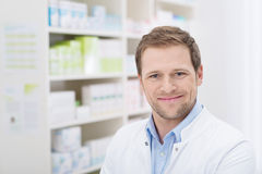 Handsome pharmicist with a beaming smile Stock Image