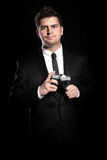 Handsome photographer stock images