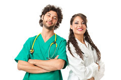 Handsome physicians Stock Images