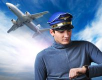 Handsome pilot Royalty Free Stock Photos