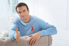 Handsome positive man looking at you Royalty Free Stock Image