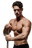 Handsome power athletic young man with great physique. Stock Images