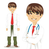 Handsome Professional Doctor. Portrait of handsome professional doctor standing and with arms crossed Stock Photography