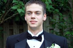 Handsome Prom Teen Horizontal Stock Images