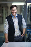 Handsome and relaxed tailor man Stock Photos