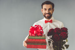 Handsome romantic guy Royalty Free Stock Image
