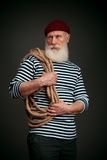 Handsome sailor isolated. Seaman. Stock Image