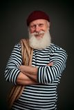Handsome sailor isolated. Seaman. Stock Images