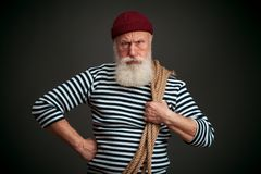 Handsome sailor isolated. Seaman. Stock Photo