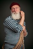 Handsome sailor isolated. Seaman. Stock Photography