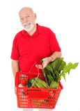 Handsome Senior Grocery Shopper Stock Image