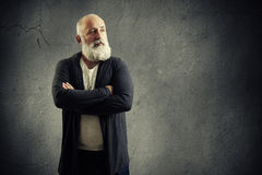 Handsome senior man with grey-haired beard Stock Photo