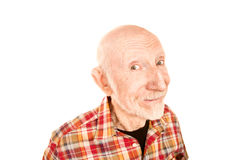 Handsome senior man with infectious smaile stock photo