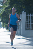 Handsome senior man  jogging Royalty Free Stock Photos