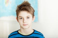 Handsome serious young preteen boy Royalty Free Stock Photo