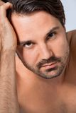 Handsome sexy bearded man Royalty Free Stock Photos