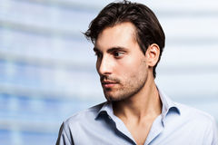 Handsome and man portrait royalty free stock photos