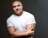 Handsome sexy young guy Stock Images