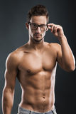 Handsome shirtless male model Royalty Free Stock Photo