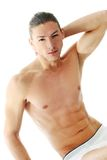 Handsome shirtless man Royalty Free Stock Images