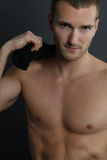 Handsome shirtless man Stock Image