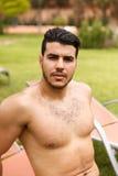 Handsome shirtless man Stock Photos