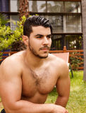 Handsome shirtless man Stock Image