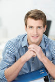 Handsome sincere businessman Stock Photos