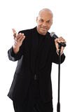 Handsome singer Royalty Free Stock Photo