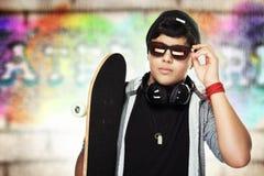 Handsome skateboarder portrait Royalty Free Stock Photo
