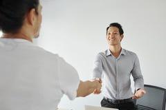 Entrepreneur meeting business partner stock photography