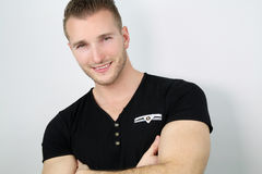 Handsome smiling blond man Royalty Free Stock Images