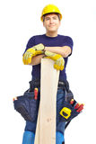 Handsome smiling builder Stock Image