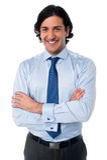 Handsome smiling business executive Stock Photos