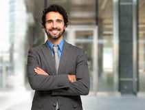 Handsome smiling business man portrait Royalty Free Stock Image