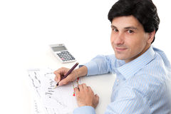 Handsome smiling business man Stock Photo