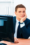 Handsome smiling businessman Royalty Free Stock Photos