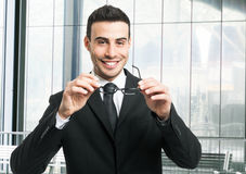Handsome smiling businessman portrait Royalty Free Stock Photography