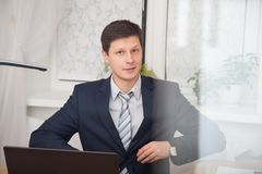 Handsome smiling confident businessman portrait Royalty Free Stock Photography