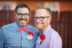 Handsome Smiling Gay Couple Stock Image