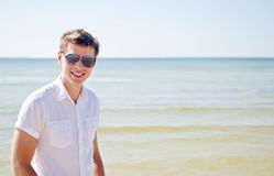 Handsome smiling guy Stock Photos