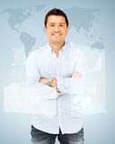 Handsome smiling man Stock Images