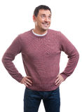 Handsome smiling man wearing sweater Royalty Free Stock Photography