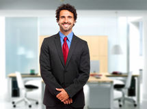 Handsome smiling manager closeup Royalty Free Stock Images