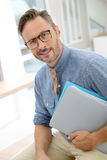 Handsome smiling professor Royalty Free Stock Image
