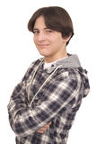 Handsome smiling teenager with crossed arms Stock Photo